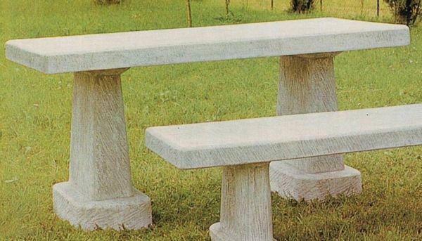 Tavoli Da Giardino In Cemento.Tavolo In Cemento Bianco E Marmo Macinato Panchine In Cemento
