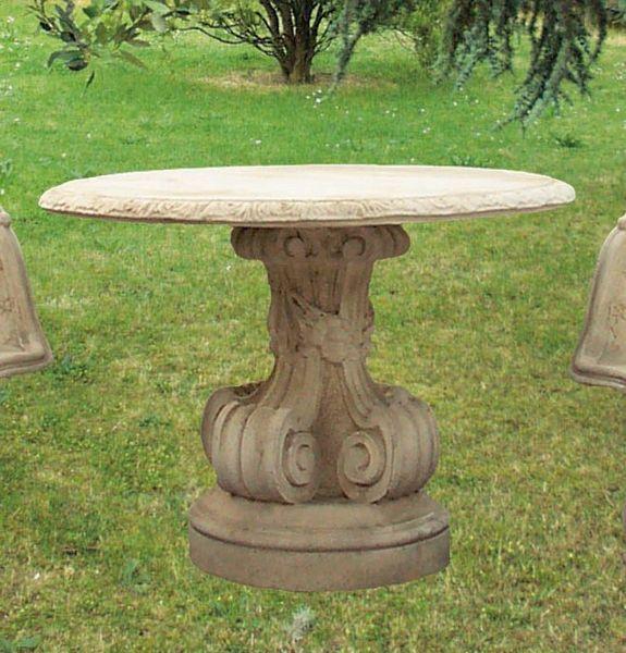 Tavoli Da Giardino In Cemento.Tavolo Imperiale In Cemento Armato E Marmo Macinato Manufatto