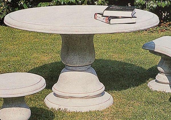 Tavolo In Cemento Da Giardino.Tavolo In Cemento Bianco E Marmo Macinato Panchine In Cemento