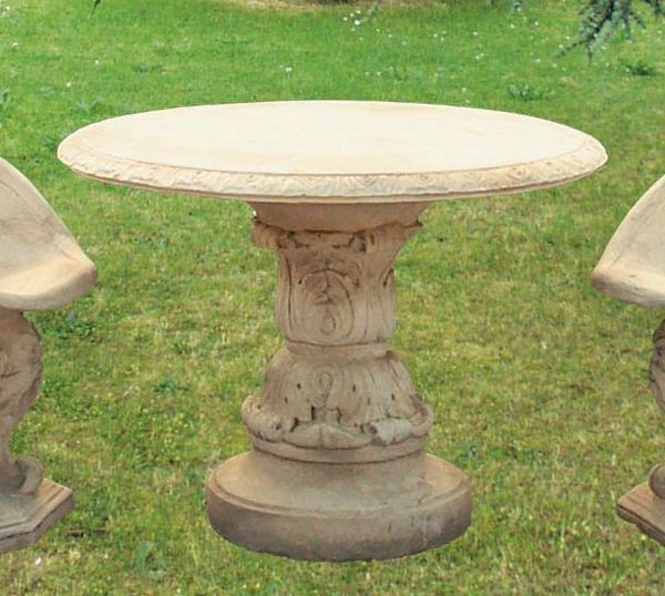 Tavoli Da Giardino In Cemento Prezzi.Tavolo In Cemento Bianco E Marmo Macinato Panchine In Cemento