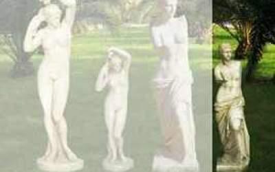 Statua in cemento bianco Venere di Milo St09C
