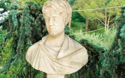 busto in cemento bianco, Bs01