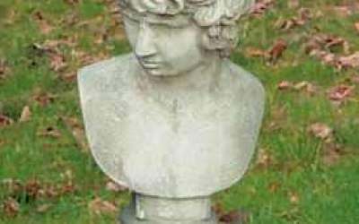 busto in cemento bianco, Bs02
