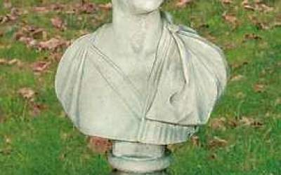 busto in cemento bianco, Bs03