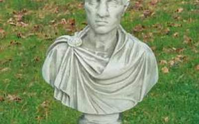 busto in cemento bianco, Bs04