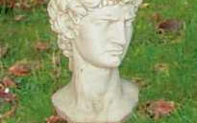 busto in cemento bianco, Bs05