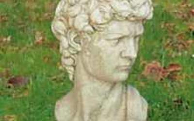 busto David in cemento bianco, Bs06