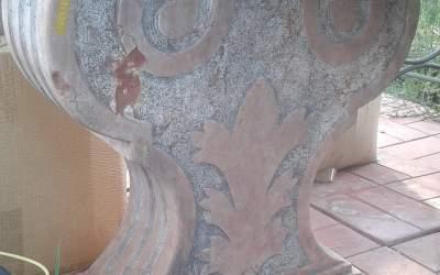 capitello in marmo scolpito a mano, TC03MR