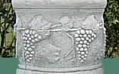 cilindro in cemento bianco, Vs129