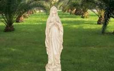 Sacro da giardino in cemento bianco, Sa01B