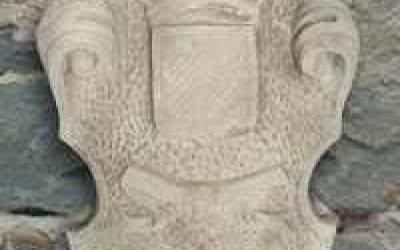 stemma in cemento bianco, TST03