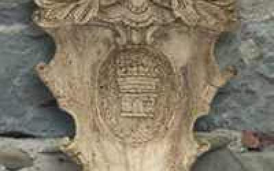 stemma in cemento bianco, TST04A