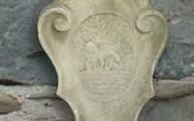 stemma in cemento bianco, TST05