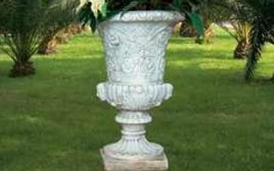 vaso cemento bianco Vs002C
