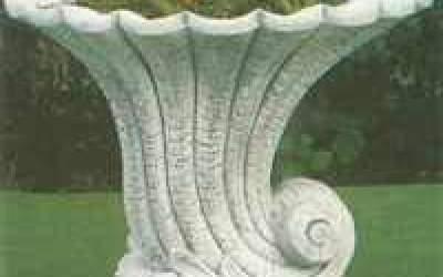 vaso cemento bianco Vs009
