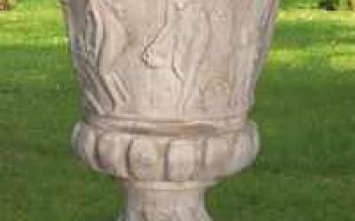 vaso cemento bianco Vs005