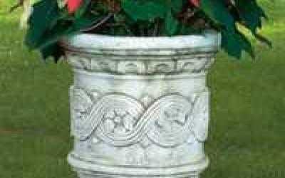 vaso cemento bianco Vs007