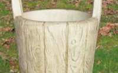 Vaso da giardino in cemento bianco, Vs050B