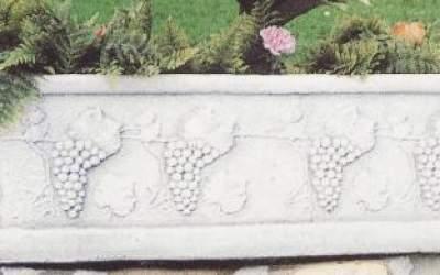 cassetta in cemento bianco, 154