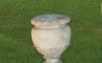 Garden white cement Pot, Vs31A