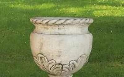 vaso cemento bianco, Vs031B