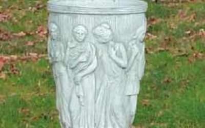 Vaso da giardino in cemento bianco, Vs045