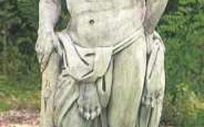 Statua cemento bianco Ercole St17
