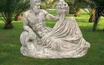 Statua in cemento bianco Dio del Nilo St18