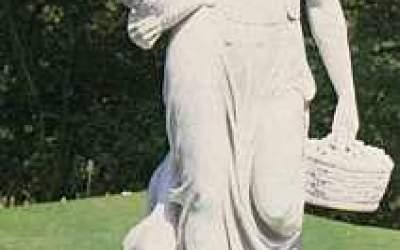 Statua in cemento bianco da giardino, Statua Versano St45