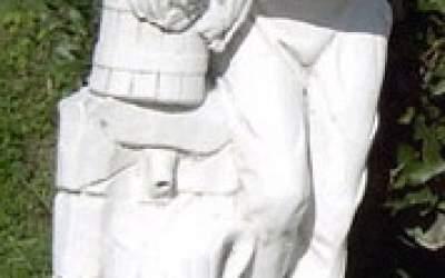 Statua cemento bianco Contadino St80