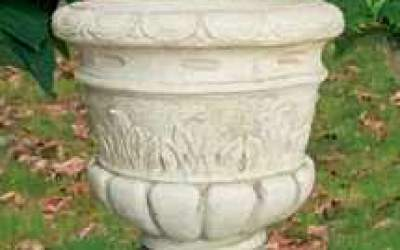 vaso cemento bianco, Vs033