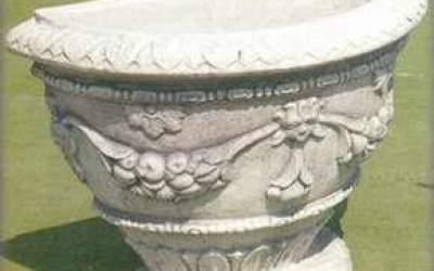vaso in cemento bianco, Vs038