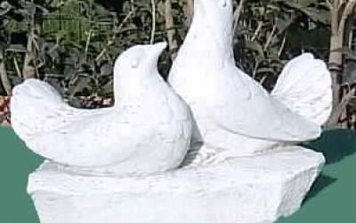 Colombi da giardino in cemento bianco, TA24