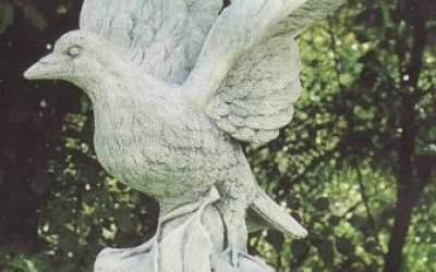 piccione in cemento bianco An72