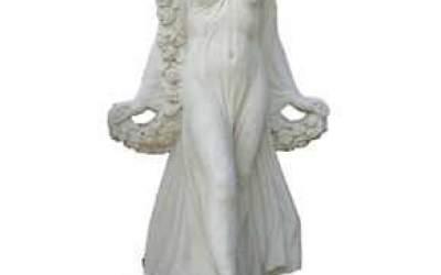 Statua in cemento bianco da giardino, St72