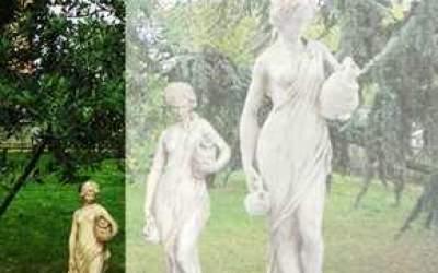 Statua cemento bianco Acquaiola St07A