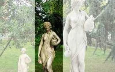 Statua in cemento bianco Acquaiola TS07B