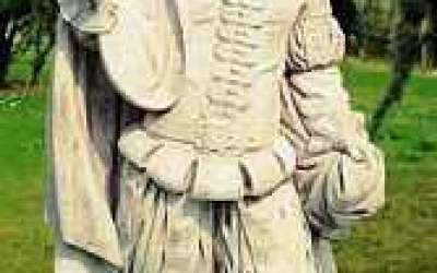 Statua in cemento bianco Fortuna St22
