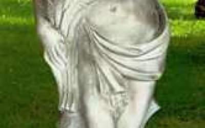 Statua da giardino in cemento bianco,  Statua Estate St30B