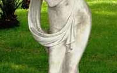 Statua da giardino in cemento bianco, Autunno St30C