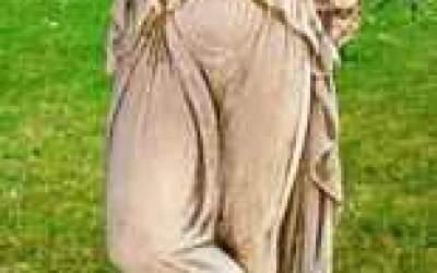 Statua in cemento bianco da giardino, St36