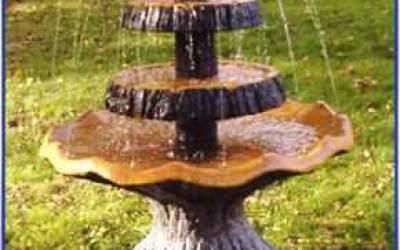 Garten Brunnen holzimitat,  FNFN11