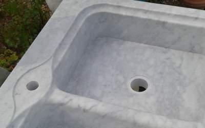 Acquaio lavello in marmo Carrara, AM02