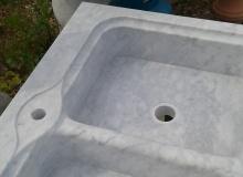 Küchenspüle aus Carrara-Marmor Massiv, AM02