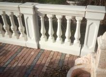 pilastro in cemento bianco Ba011