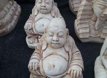 Buddha in cemento bianco, TSA03