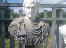 two-tone marble bust garden, BS01MR