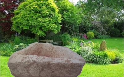 Pilla da giardino in cemento bianco, TV001