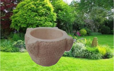Vaso da giardino in cemento bianco, Vs041A
