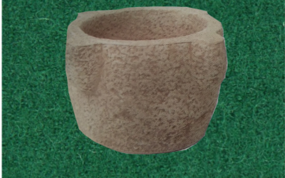 vaso in cemento bianco, Vs041B